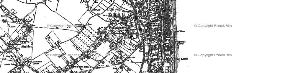 Old map of Deal in 1896