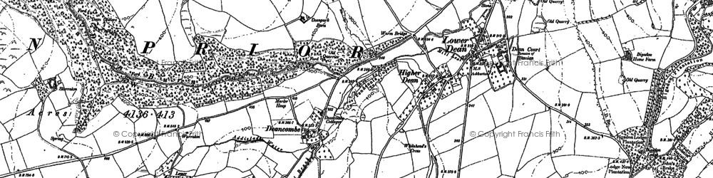 Old map of Addislade in 1885