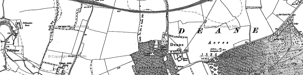 Old map of Ashe Park in 1894