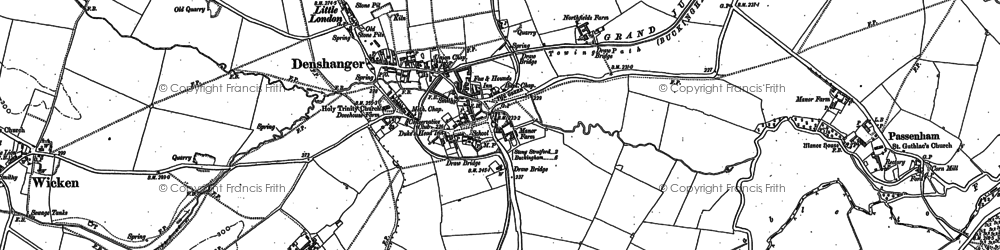 Old map of Deanshanger in 1898