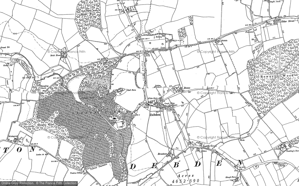 Old Map of Historic Map covering Abbots in 1896