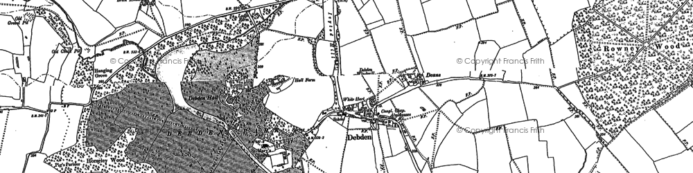 Old map of Abbots in 1896