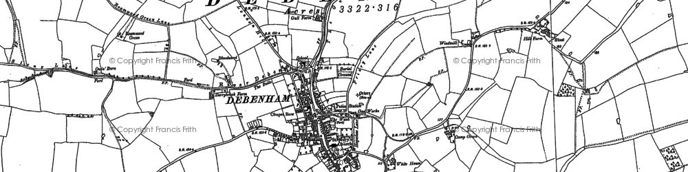 Old map of Winston Grange in 1884