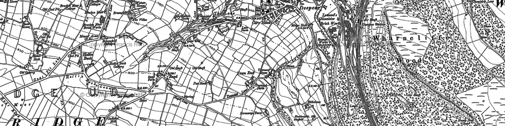 Old map of Allman Well Hill in 1891