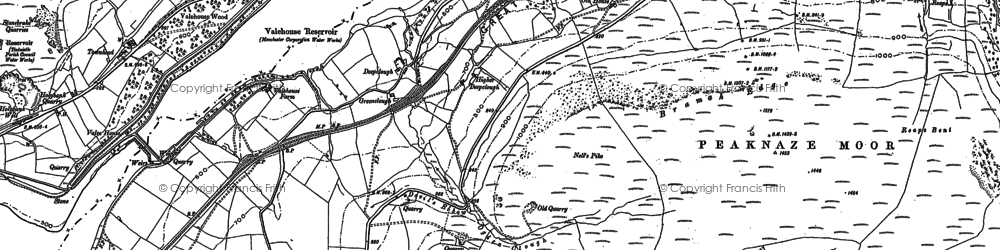 Old map of Windgate Edge in 1907