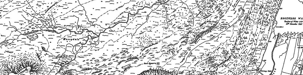 Old map of Aiken Crag in 1897