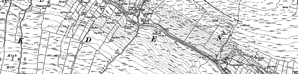 Old map of Langstrothdale Chase in 1907