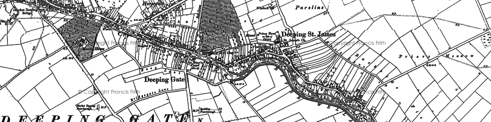 Old map of Deeping St James in 1887
