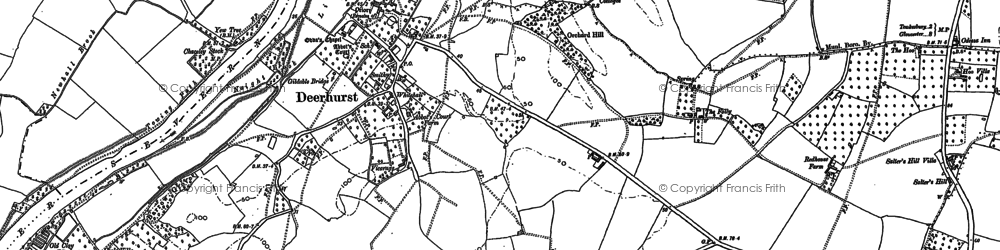 Old map of Abbot's Court in 1883