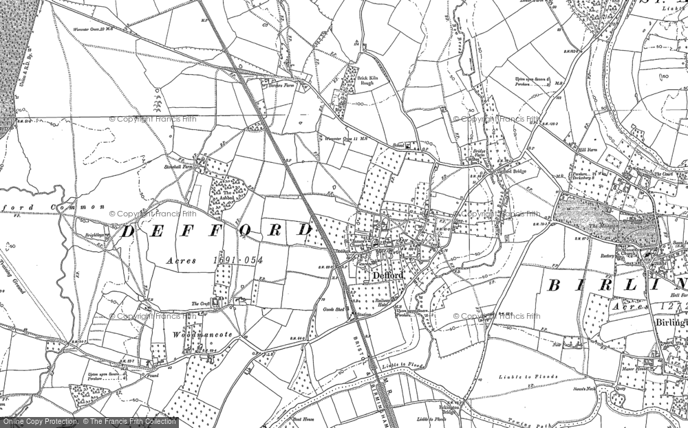 Old Map of Historic Map covering Woodmancote in 1884