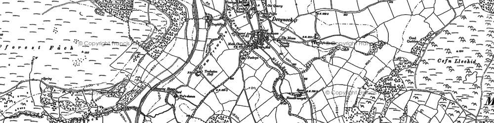 Old map of Abersenny in 1886
