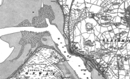 Old Map of Deganwy, 1899
