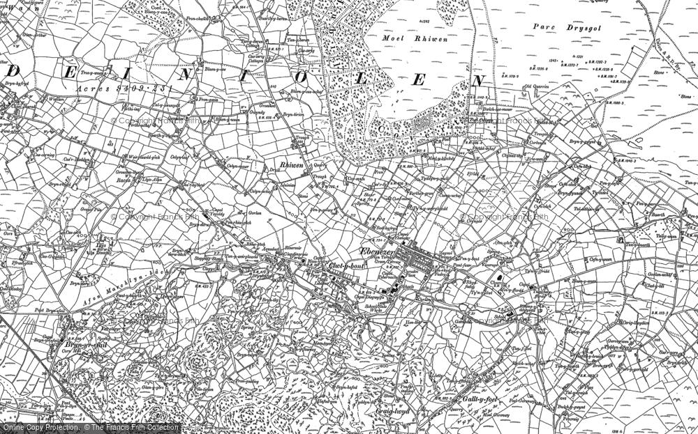 Old Map of Deiniolen, 1888 - 1899 in 1888