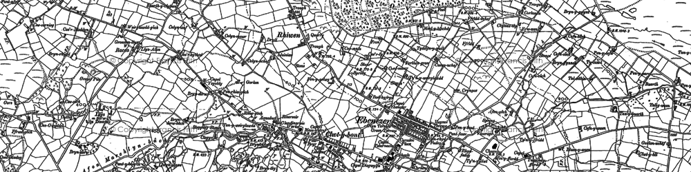 Old map of Deiniolen in 1888