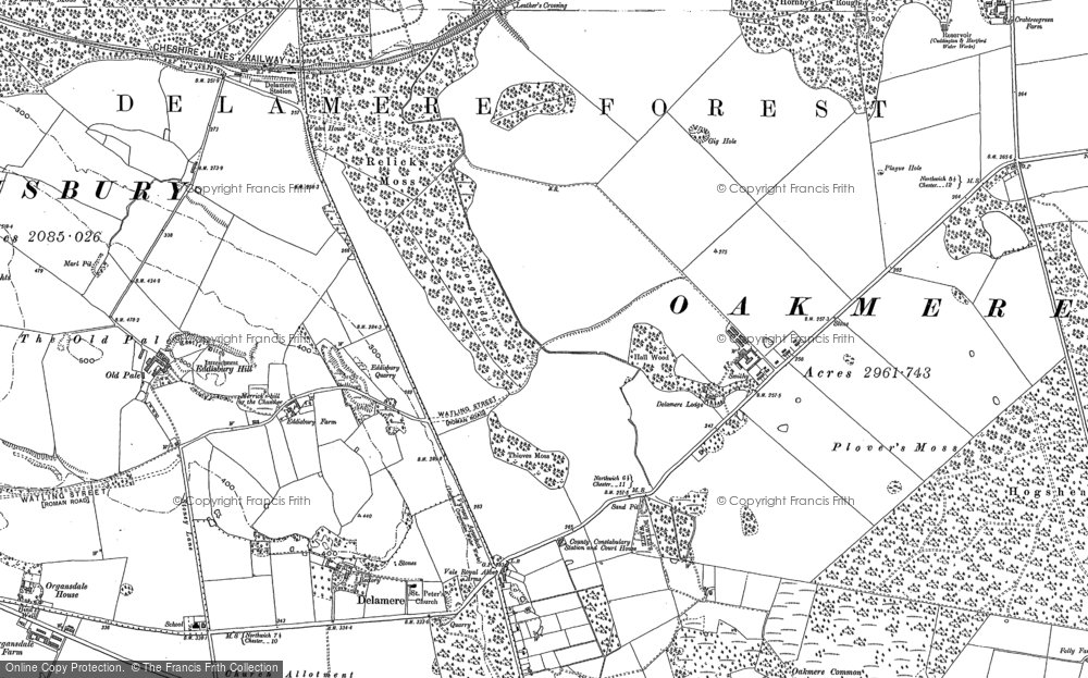 Old Map of Historic Map covering Abbeywood in 1897