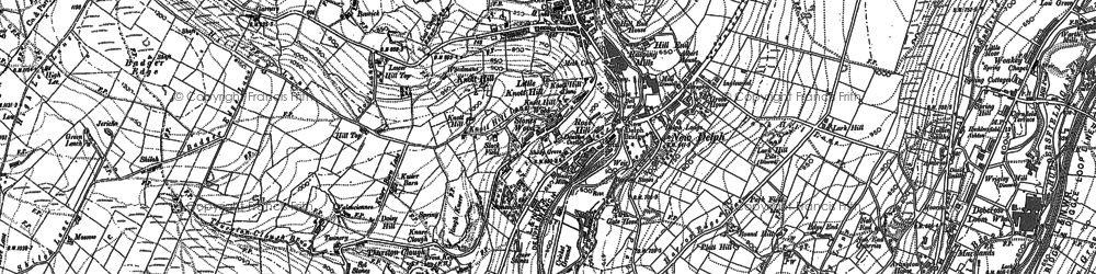 Old map of Thurston Clough in 1890