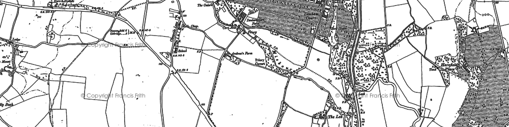 Old map of Baker's Wood in 1897