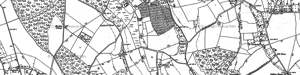 Old map of Bryant's Bottom in 1897