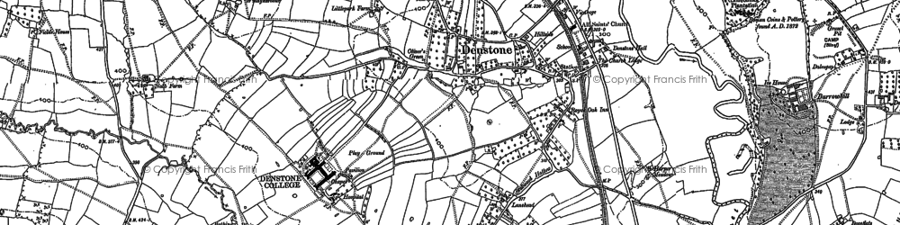 Old map of Denstone in 1898