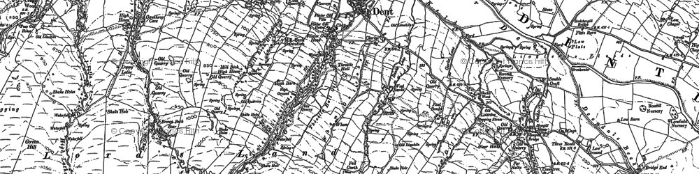 Old map of Backstonegill in 1907