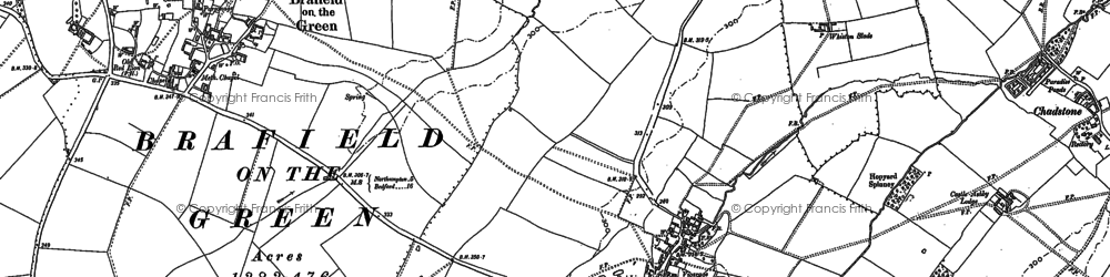 Old map of Young Ausway in 1884