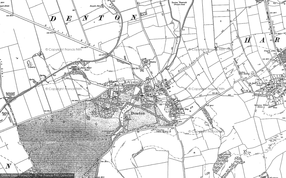 Old Maps of Denton Francis Frith
