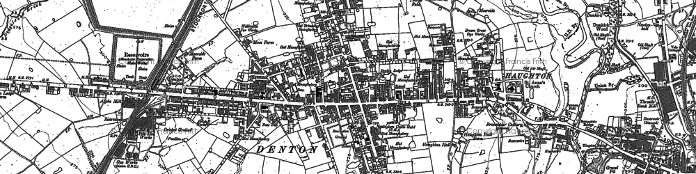 Old map of Denton in 1904