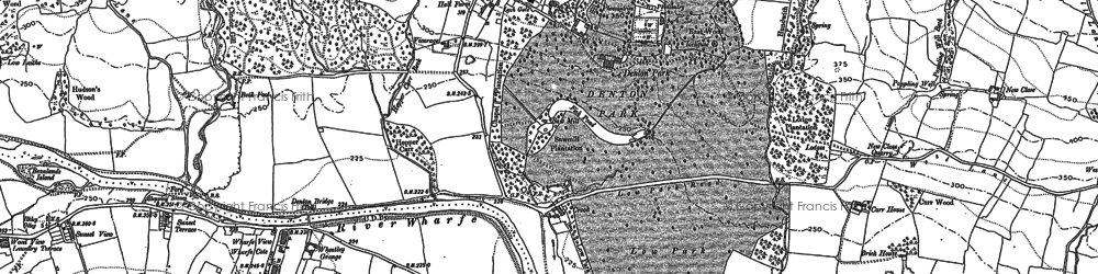 Old map of Heligar Pike in 1907