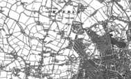 Old Map of Denton's Green, 1892
