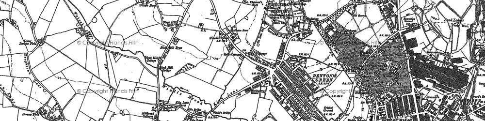 Old map of Windle Hall in 1892