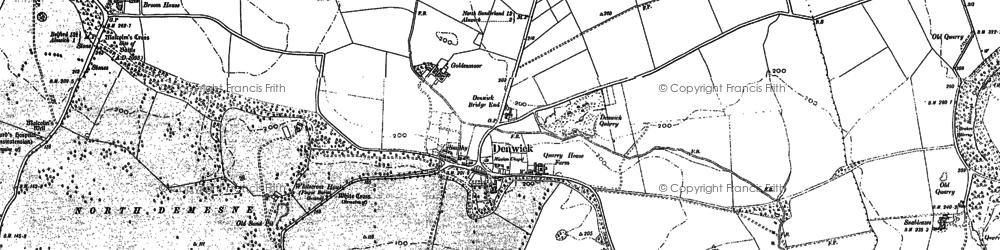 Old map of Alndyke in 1897