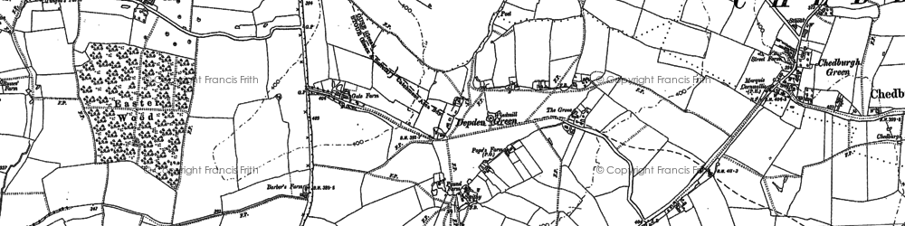Old map of Aldersfield Hall in 1884