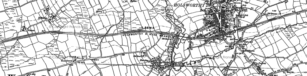 Old map of Leworthy in 1883