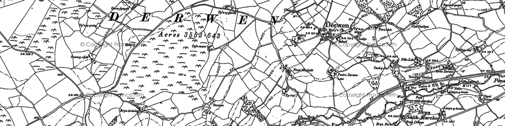 Old map of Allt-y-Celyn in 1899