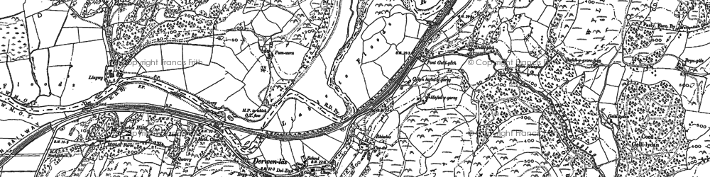Old map of Derwenlas in 1900