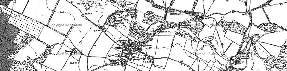 Old map of Detling in 1895