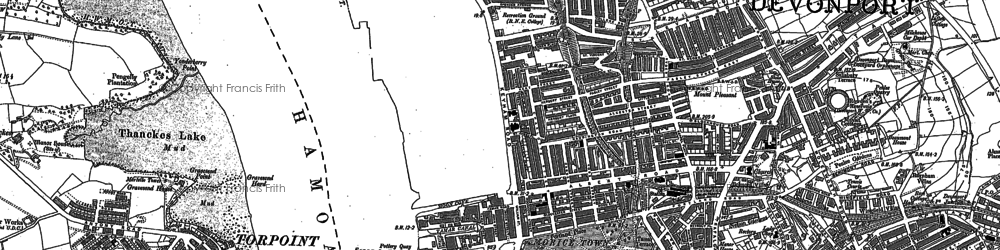 Old map of Morice Town in 1912