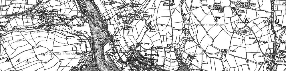 Old map of Devoran in 1878