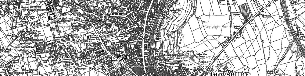 Old map of Dewsbury in 1892