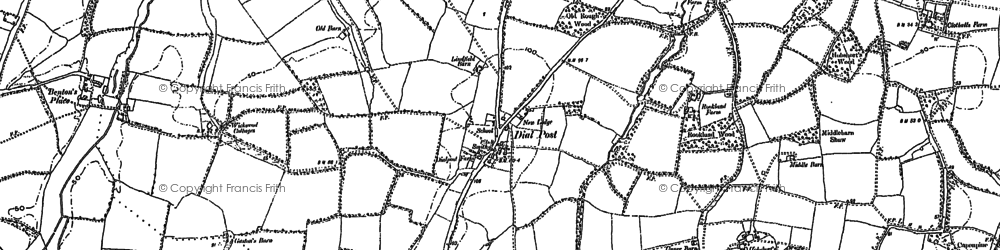 Old map of Woodmans Stud in 1896