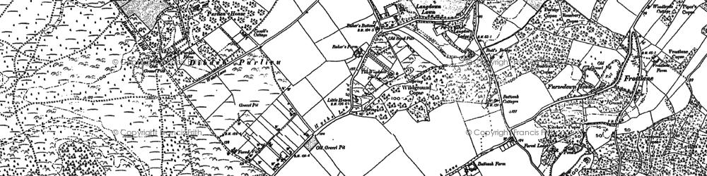 Old map of Dibden Purlieu in 1895