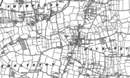 Old Map of Dickleburgh, 1883 - 1904