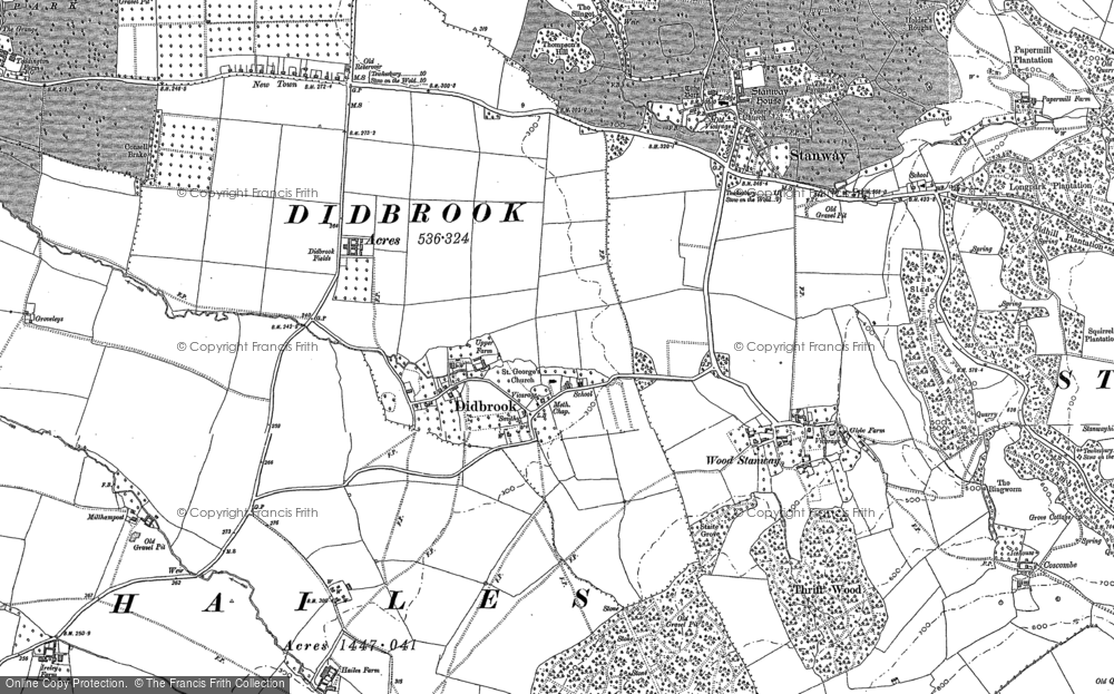 Old Maps of Gloucestershire Warwickshire Railway  Francis Frith