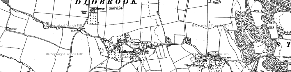 Old map of Didbrook in 1883