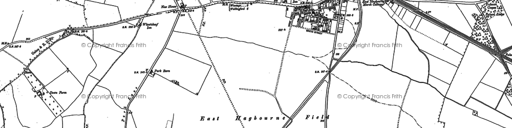 Old map of Didcot in 1898