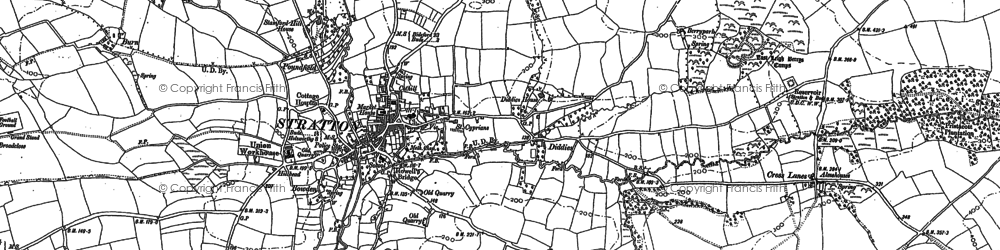 Old map of Launcells Barton in 1905