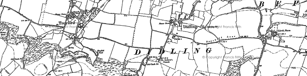 Old map of Linchball Wood in 1896