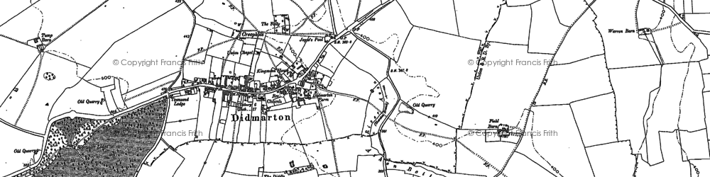 Old map of Didmarton in 1899