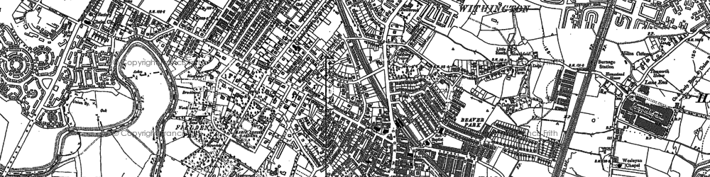 Old map of Didsbury in 1905