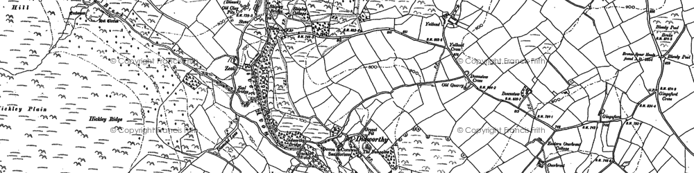 Old map of Woolholes in 1886